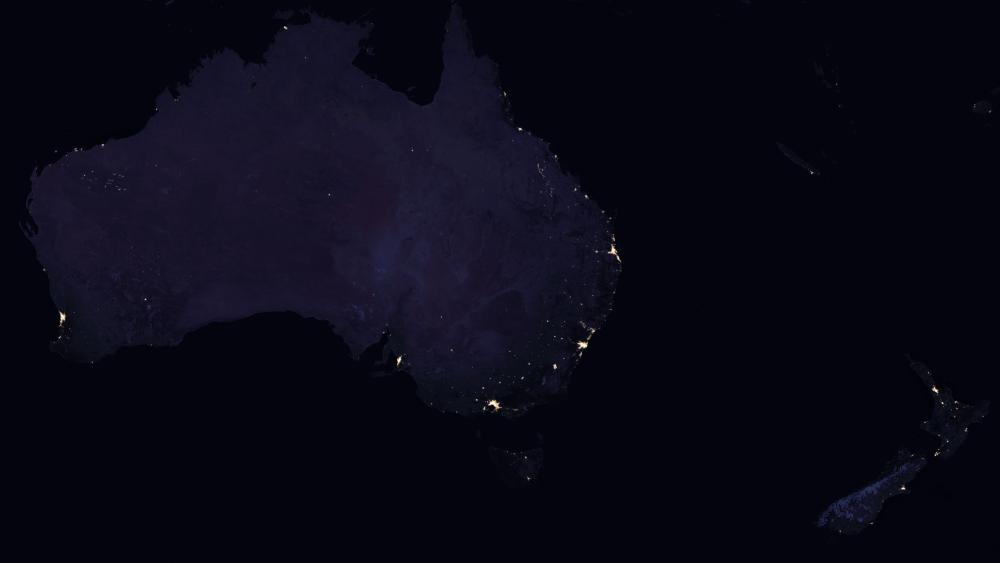 Night Lights of Australia & New Zealand 2016 wallpaper