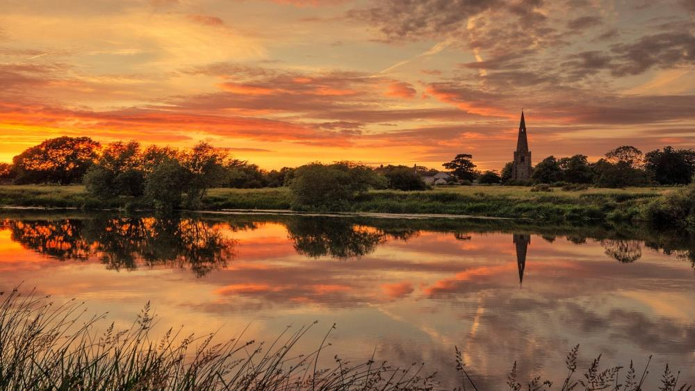 River Trent and Church Sawley wallpaper