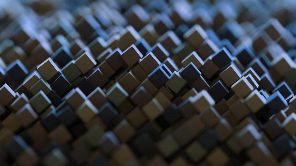 3D abstract cubes wallpaper
