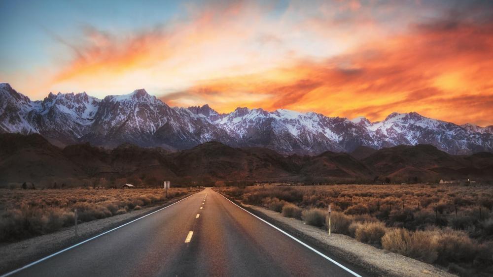 Road in California wallpaper