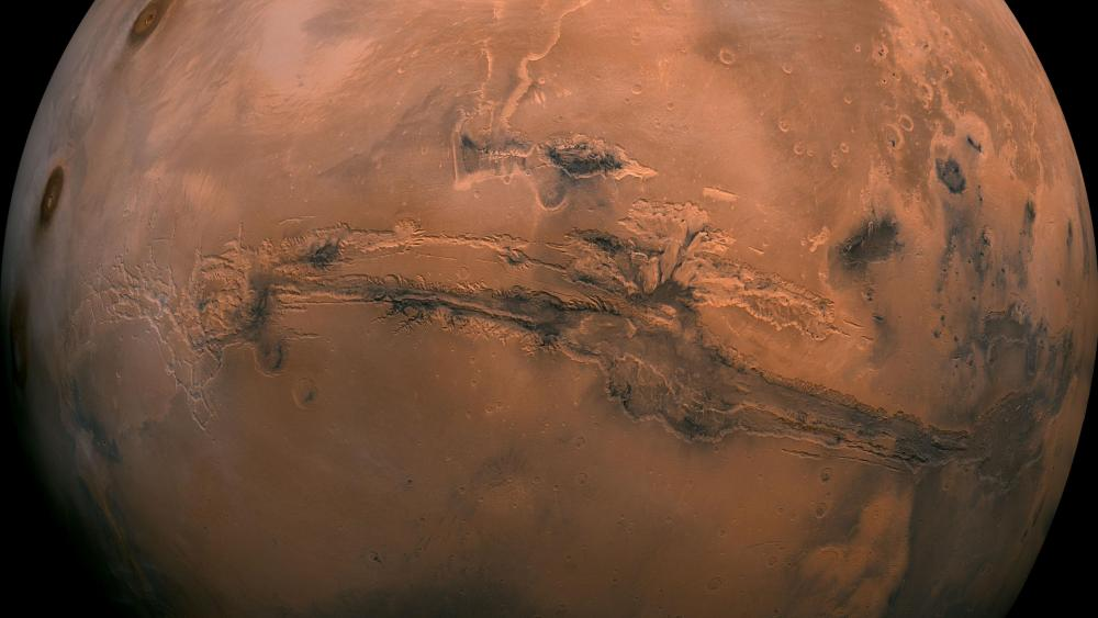 Mars Valles Marineris Hemisphere Enhanced wallpaper