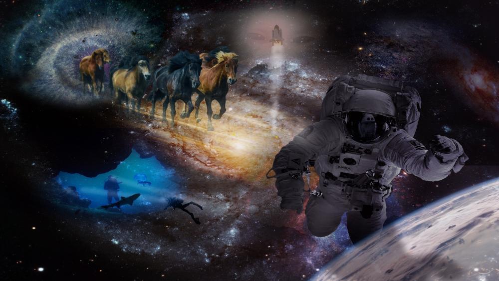 Fantasy collage wallpaper