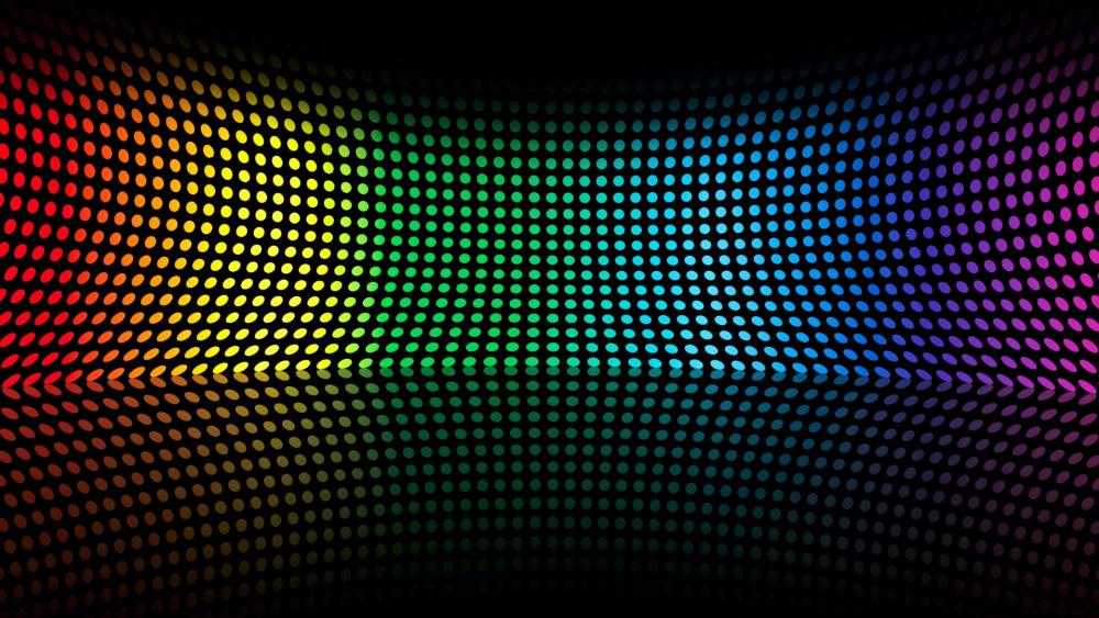 Neon colors in symetry wallpaper