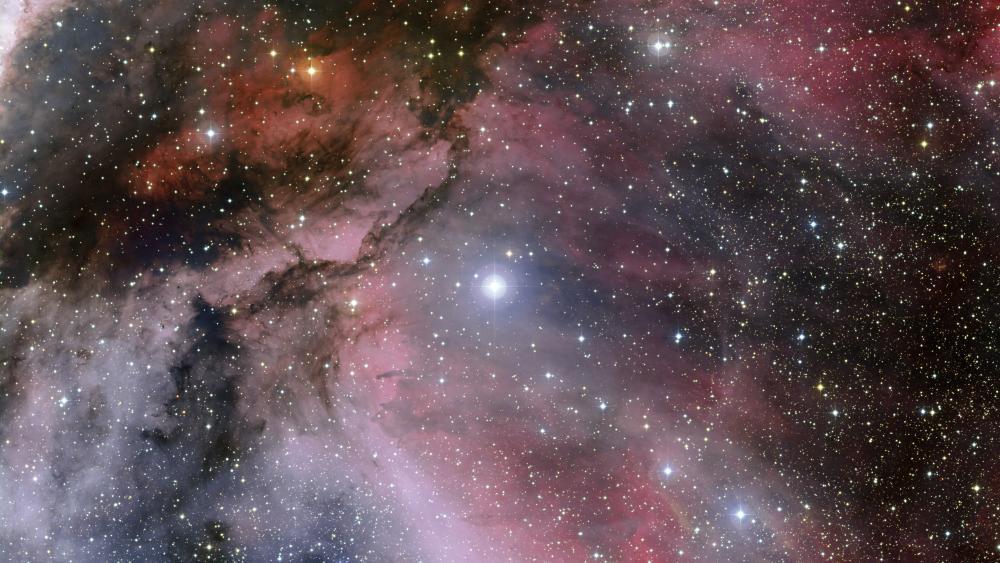 The Carina Nebula Around the Wolf–Rayet Star WR 22 wallpaper