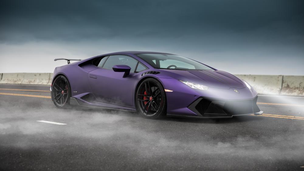 Purple Lamborghini Huracan wallpaper