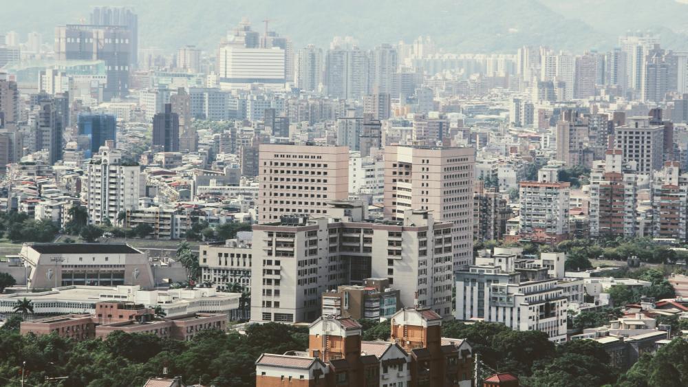 Taipei Tower Blocks wallpaper