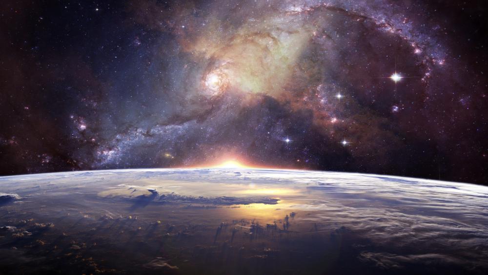 Earth space art wallpaper
