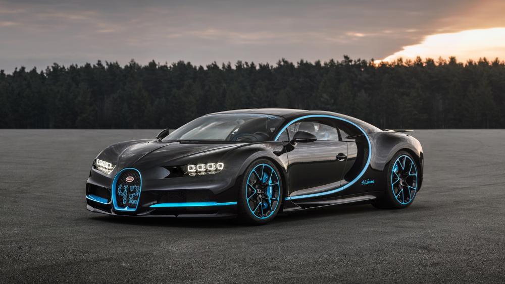 Black Bugatti Chiron wallpaper