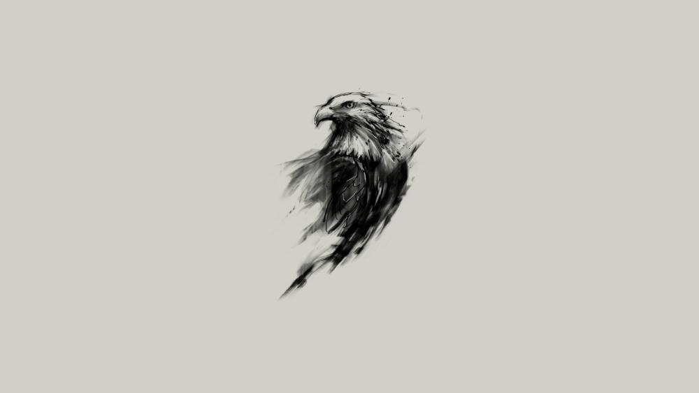 Eagle sketch wallpaper
