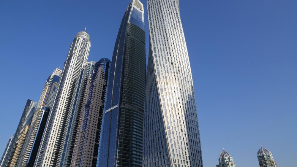 Supertall Skyscrapers in Dubai wallpaper