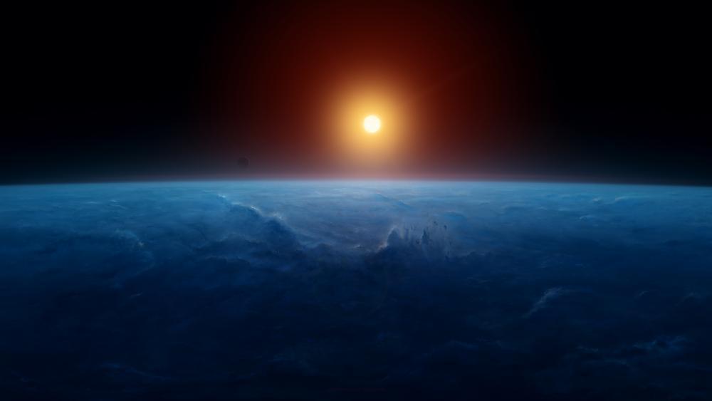 Earth and Sun 🌏☀️ wallpaper