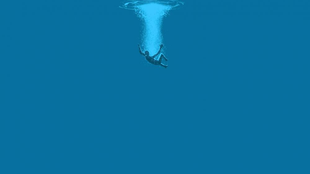 Underwater minimal art wallpaper