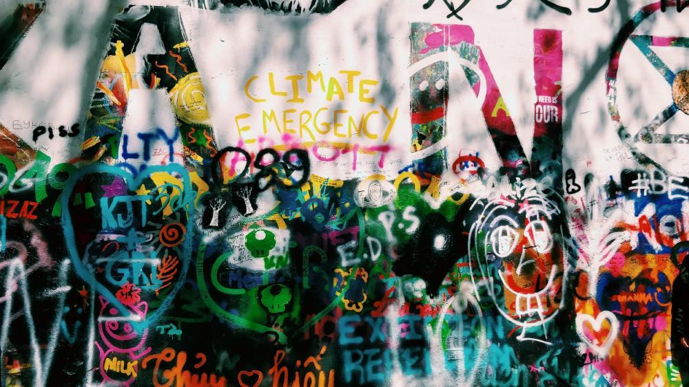 Lennon wall in Prague wallpaper