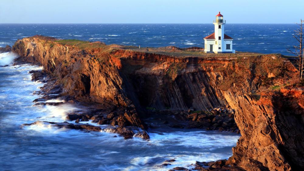 Cape Arago Lighthouse Oregon wallpaper