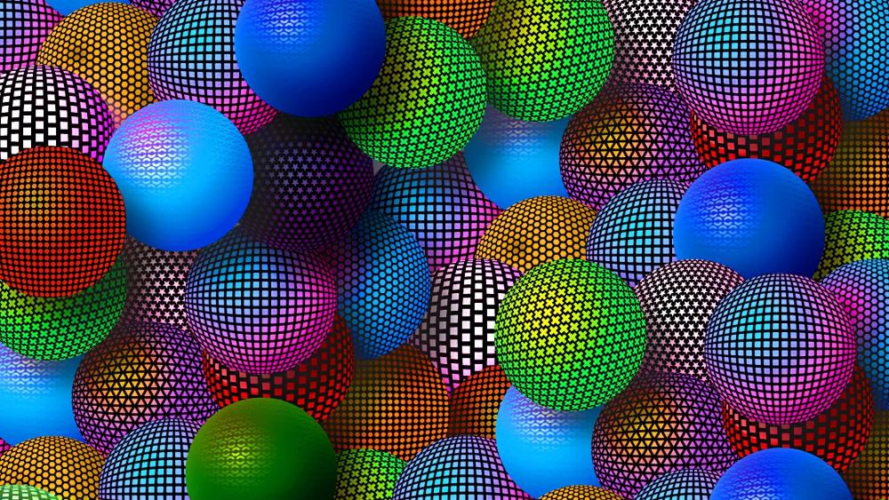 3D colorful graphics wallpaper