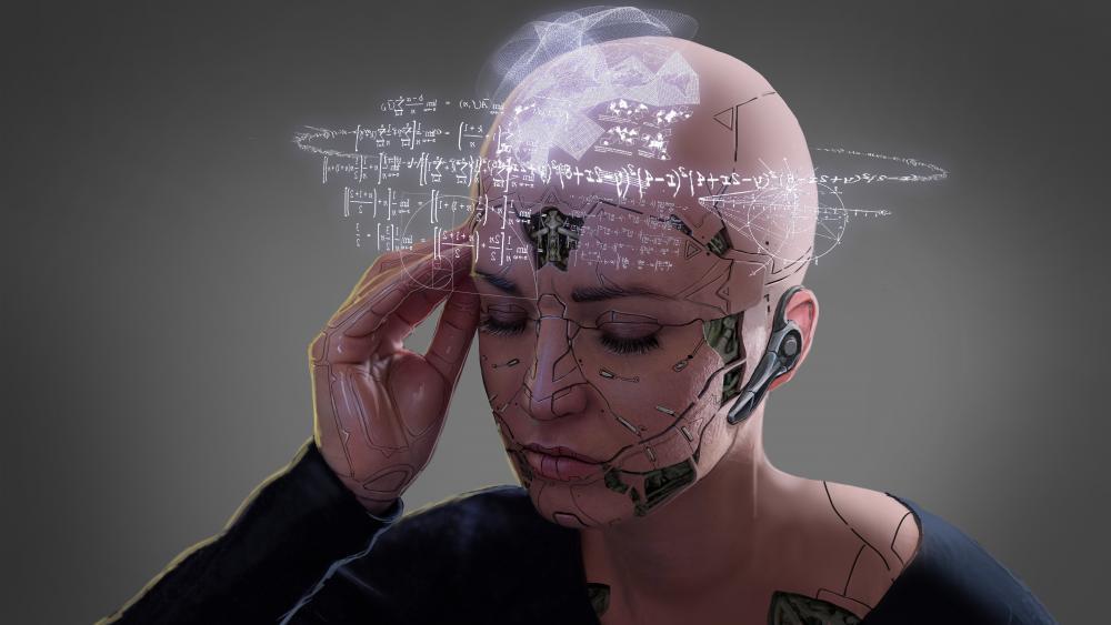 Woman cyborg wallpaper