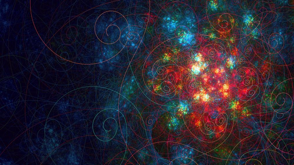 Colorful fractal art wallpaper