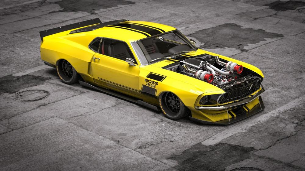 Ford Boss 302 Mustang wallpaper