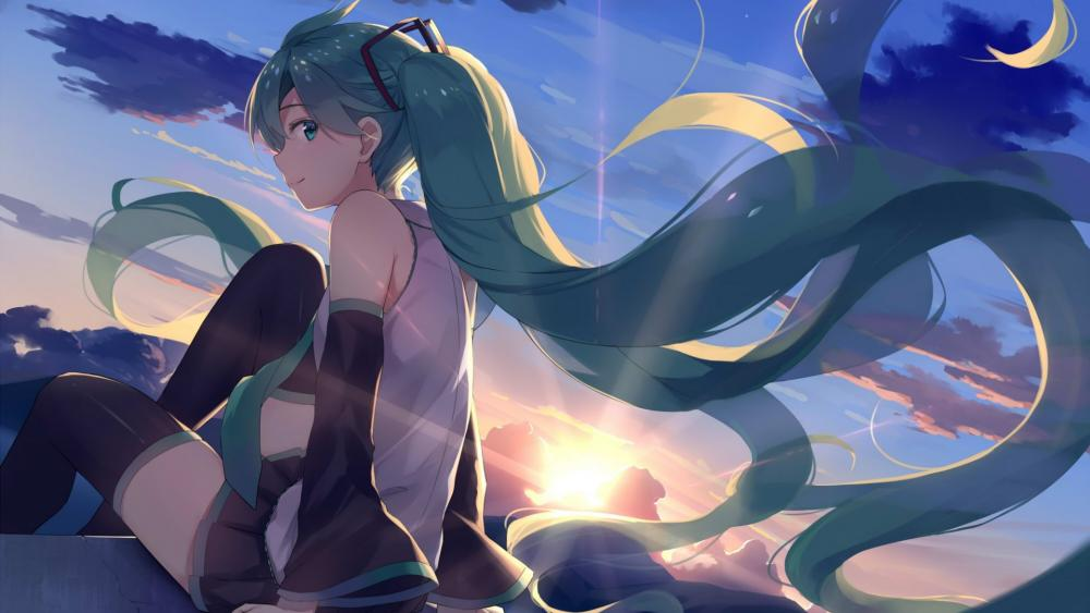 Hatsune Miku Vocaloid wallpaper