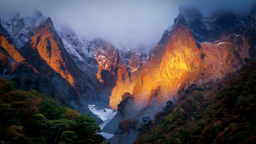 Mount Tanigawa in Japan wallpaper