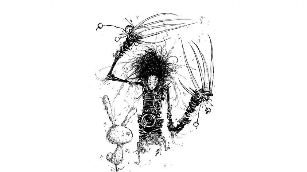 Edward Scissorhands artwork wallpaper