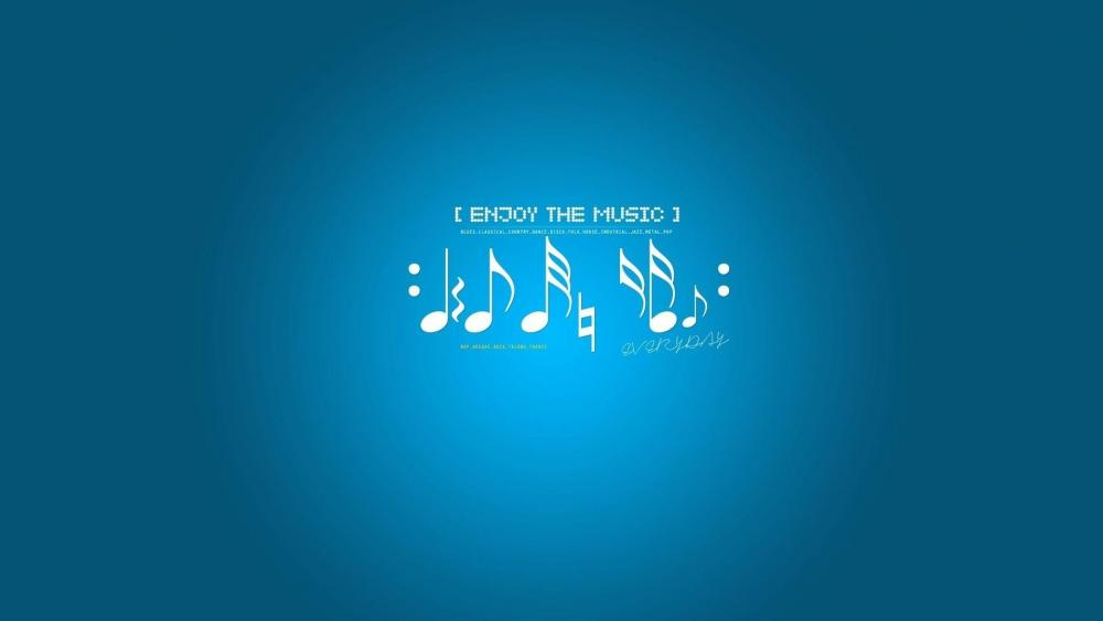 Enjoy the music wallpaper