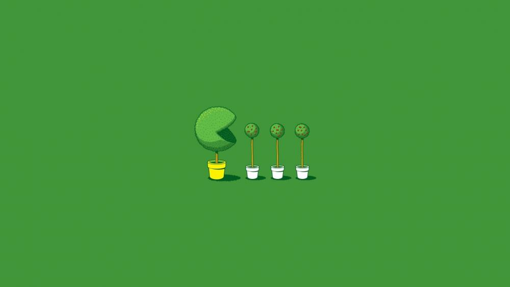 Plant eats plants wallpaper