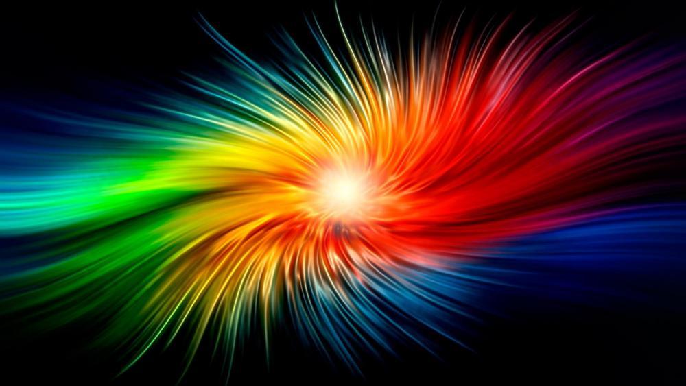 Rainbow swirls wallpaper