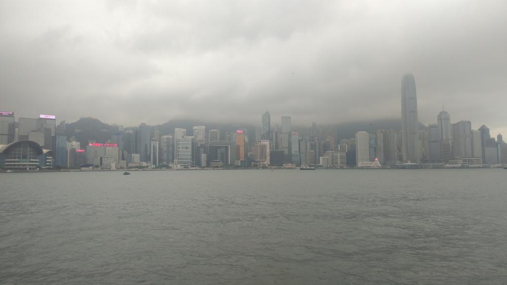 hongkong skyline wallpaper