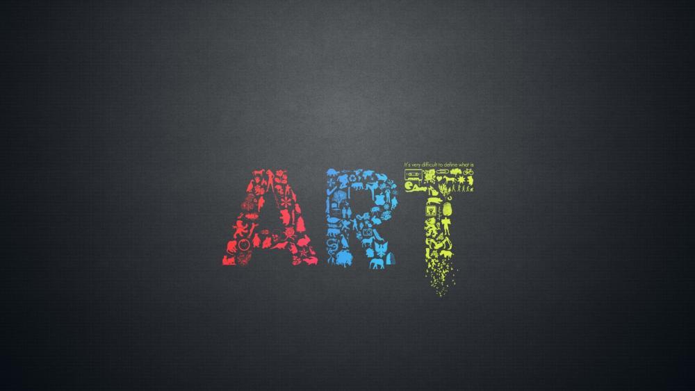 ART Typography wallpaper