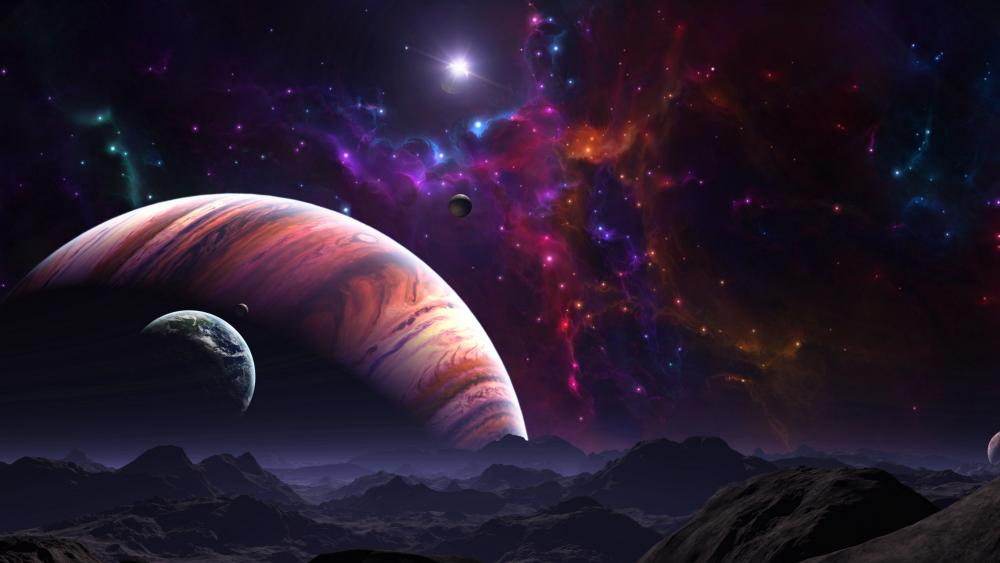 Alien planets wallpaper