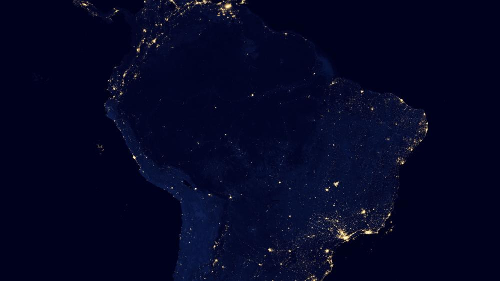 Night Lights of South America v2012 wallpaper