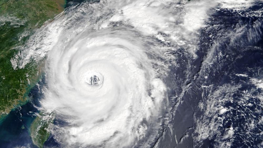 Typhoon Talim wallpaper