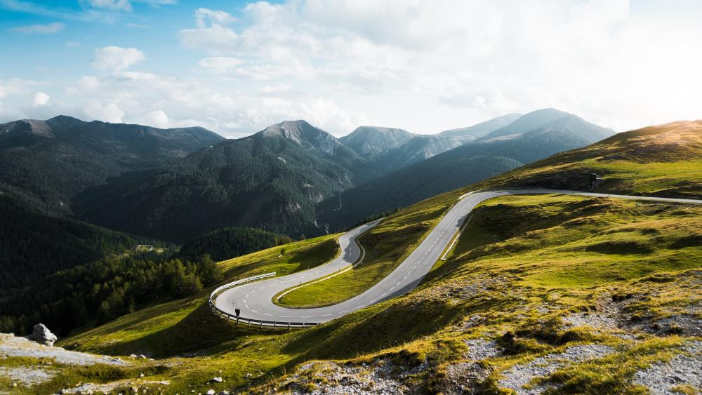 Curved road in Austria wallpaper