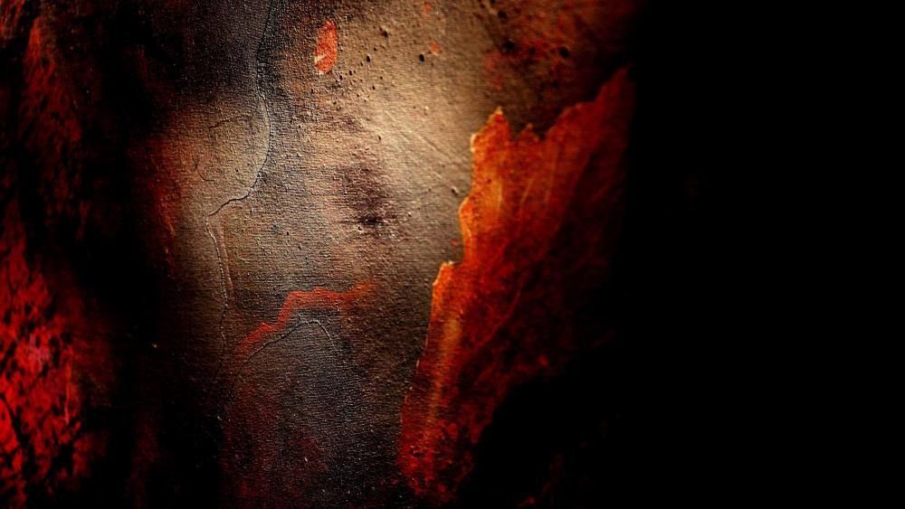 Close up abstract painting wallpaper