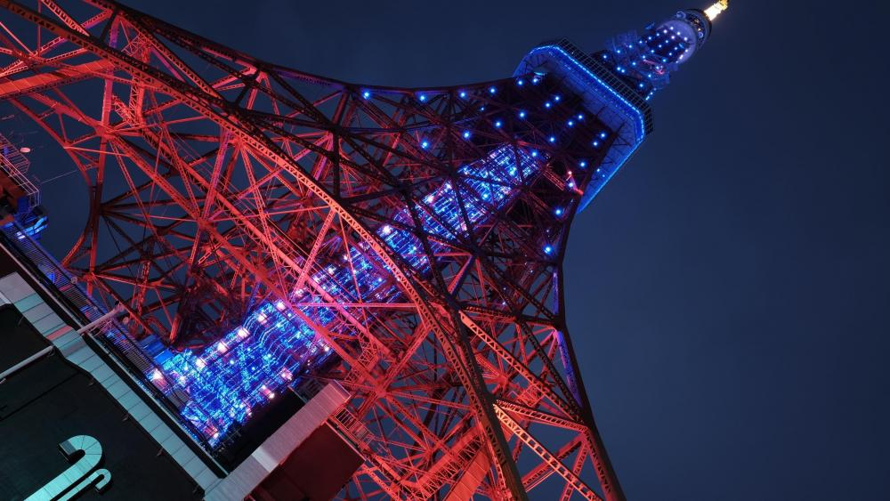 Low-Angle Shot of the Tokyo Tower wallpaper