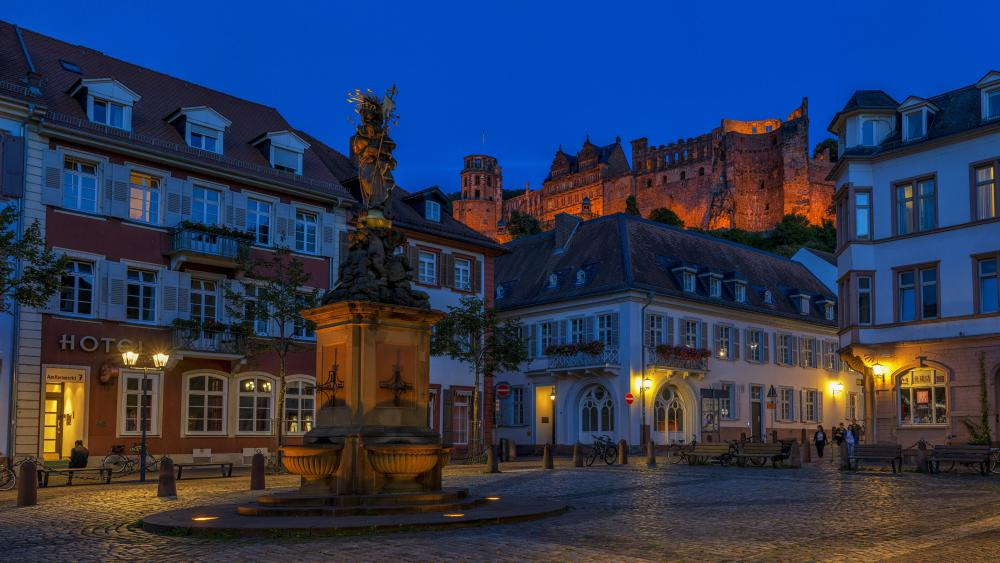 Heidelberg at night, Germany wallpaper