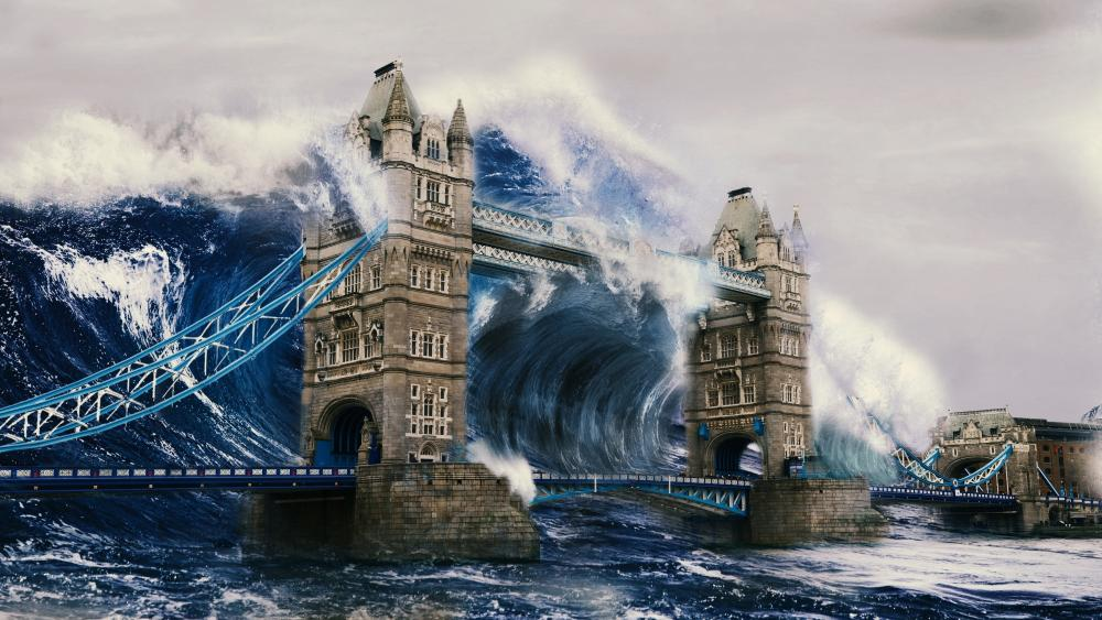 Tower Bridge Fantasy Art wallpaper