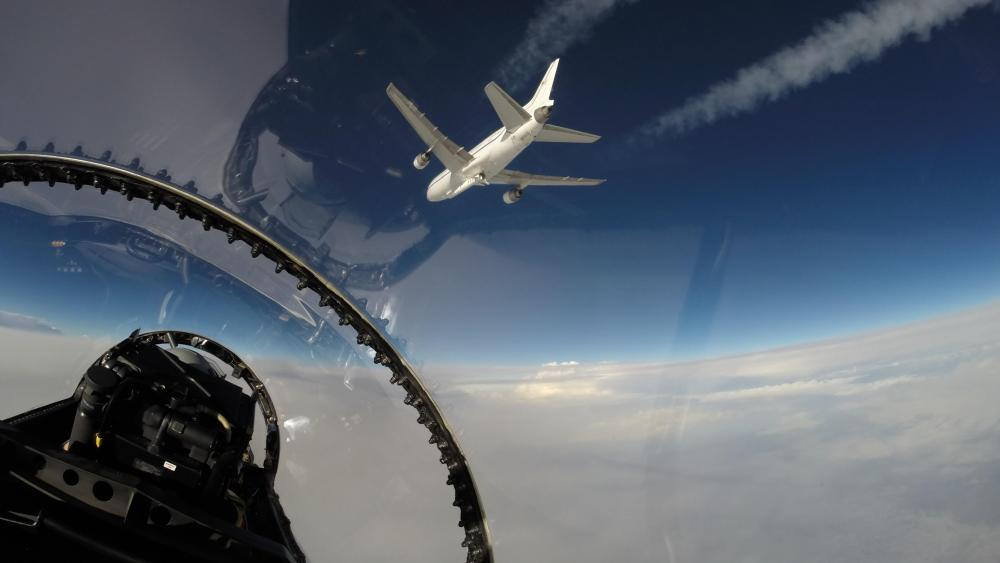 View of NASA's CYGNSS Hurricane Mission Launch From Chase Plane wallpaper