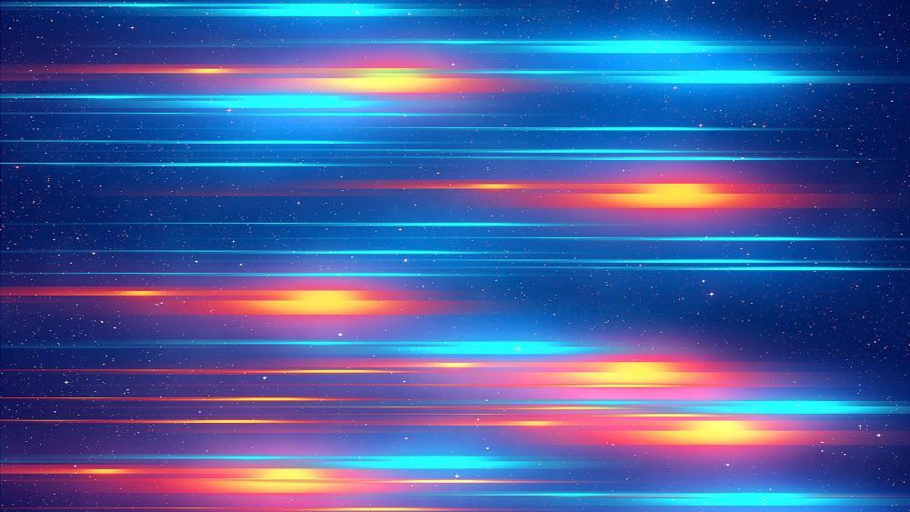 Glowing lines wallpaper