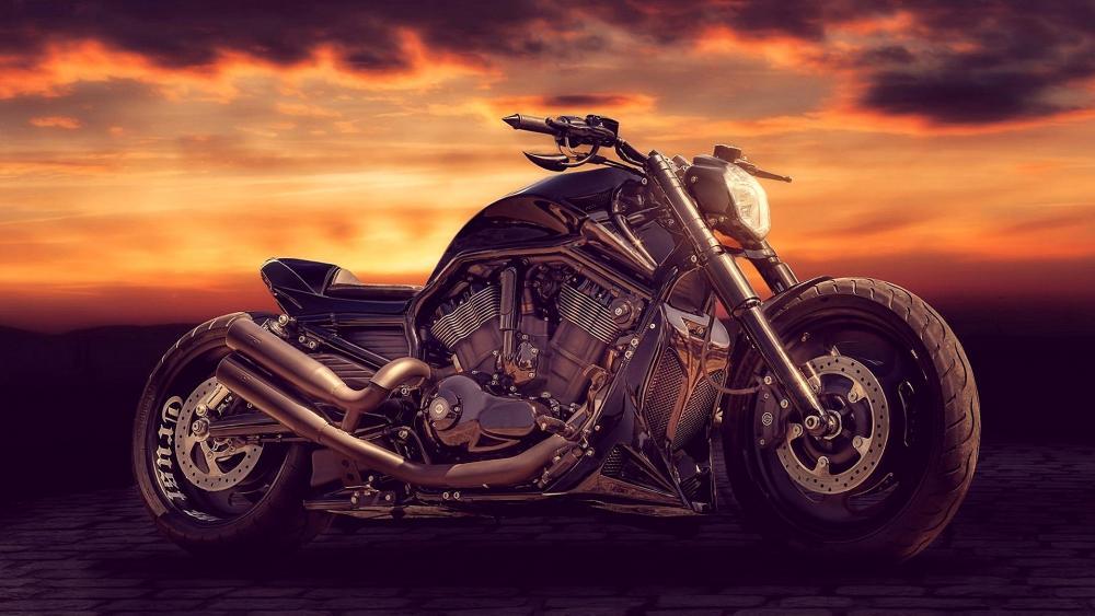 Honda Bobber motorcycle wallpaper