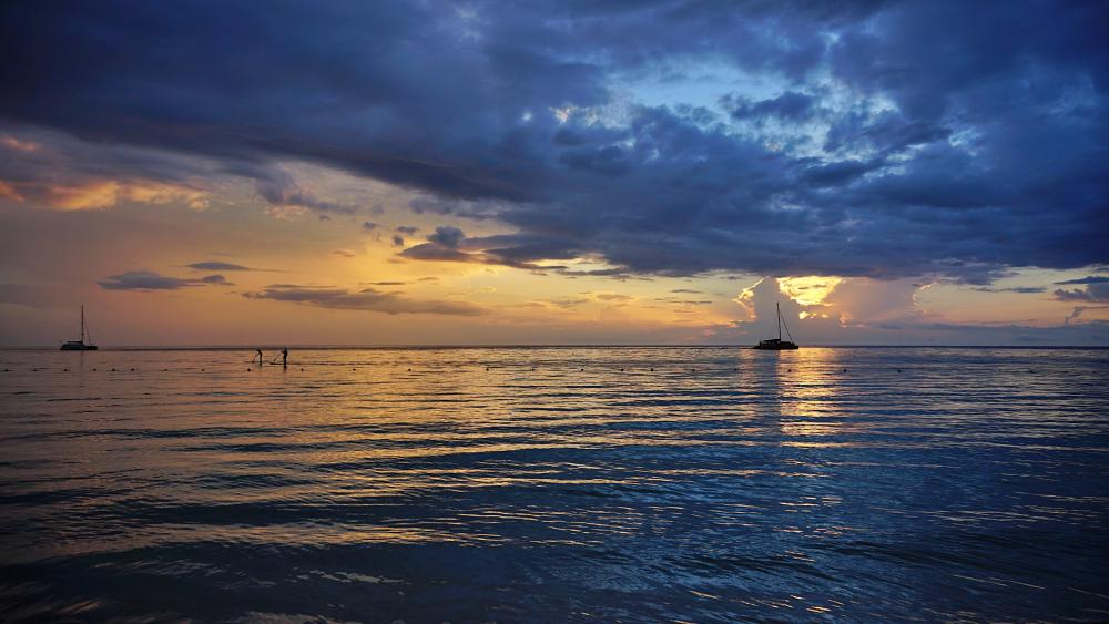Sunset in Negril wallpaper