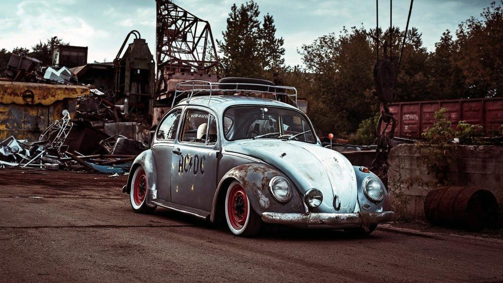 Volkswagen Beetle Vintage Car wallpaper