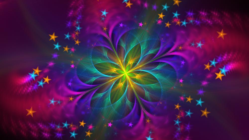 Glowing flower wallpaper