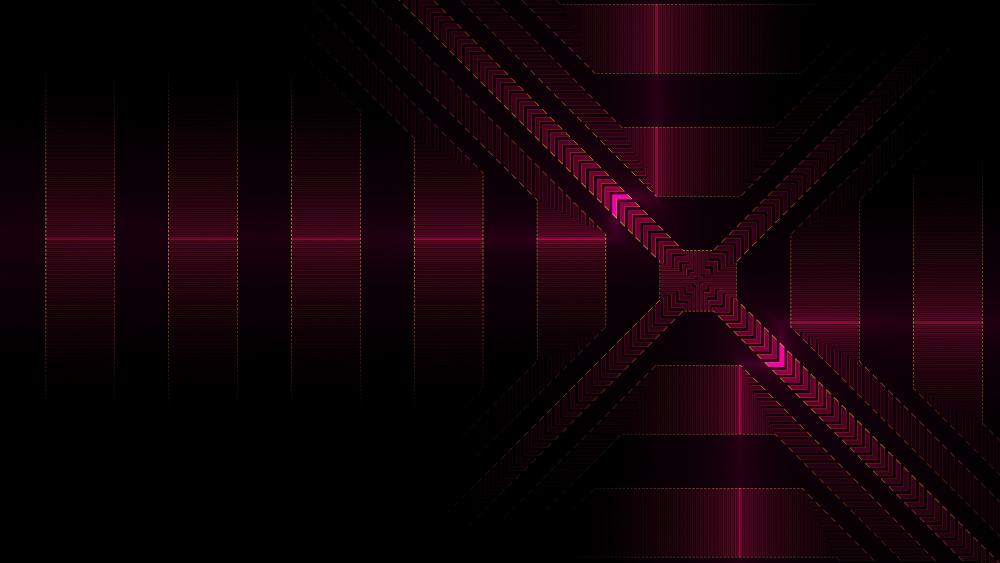 Red striped pattern wallpaper