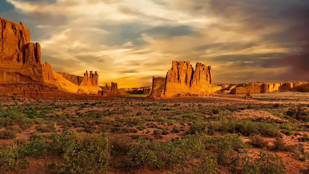 Arches National Park, The Three Gossips wallpaper