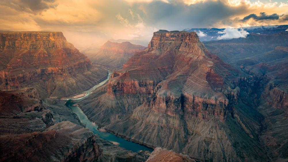 The Colorado River in the Grand Canyon wallpaper