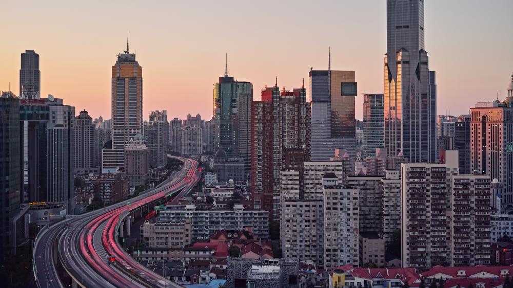 Elevated Highway in Shanghai wallpaper