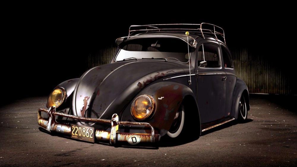 Rusty Volkswagen Beetle wallpaper