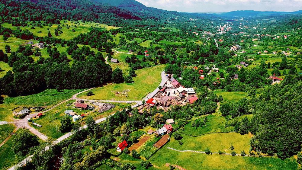 Aerial Landscape wallpaper